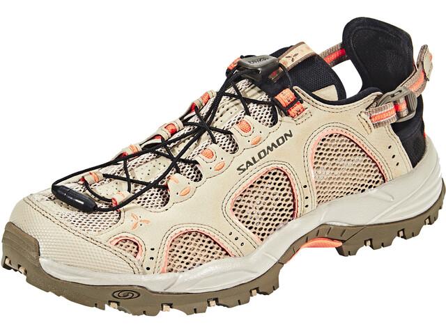 Salomon Techamphibian 3 Shoes Women vintage kaki/bungee cord/living coral